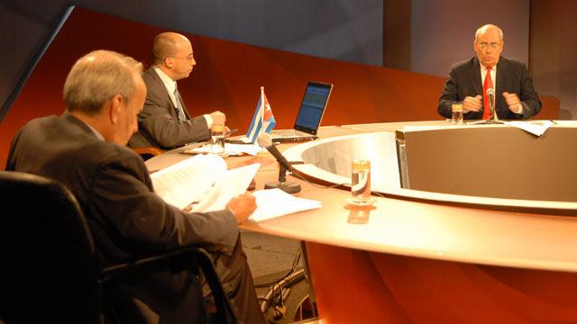 Ricardo Alarcón, Randy Alonso y Reinaldo Taladrid intercambiaron sobre la decisión injusta al ratificar la culpabilidad de Los Cinco.