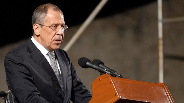 Serguei Lavrov, canciller de la Federación Rusa interviene en la ceremonia inaugural de la XIX Feria Internacional del Libro Cuba 2010