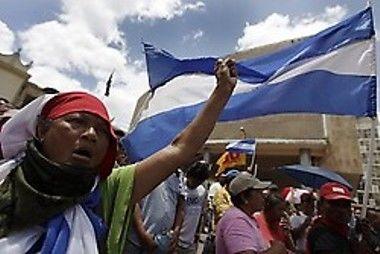 Resistencia hondureña.  Foto Archivo