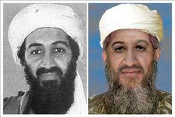 """Imágenes facilitadas por la Oficina Federal de Investigaciones (FBI) estadounidense a través de su página web, que muestran al líder de Al Qaeda, Osama bin Laden, en una fotografía (izda) de la que el propio FBI """"desconoce la fecha"""" y en otra (dcha) retocada digitalmente por expertos de la agencia estadounidense para mostrar el posible aspecto del terrorista en 2009. EFE"""