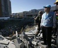Ban Ki-moon recorre zona de desastre tras sismo en Chile