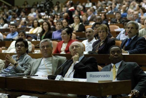 Inauguración del XII Encuentro Internacional de Economía sobre Globalización y Problemas del Desarrollo, en el Palacio de las Convenciones, el 1 de marzo de 2010. AIN FOTO/ Marcelino VAZQUEZ HERNANDEZ/are