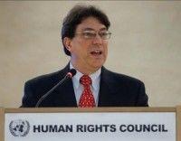 El Canciller cubano Bruno Rodríguez Parrilla, interviene en la décimo tercera sesión del Consejo de Derechos Humanos de la ONU en Ginebra, Suiza, hoy, miércoles 3 de marzo de 2010. Foto EFE