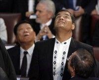 Rafael Correa en la investidura del chileno Sebastián Piñero
