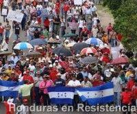 Miles de personas marcharon en Tegucigalpa