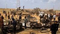 La coalición internacional bombardea la ciudad de Sebha cuya población apoya a Gadafi. Foto AFP