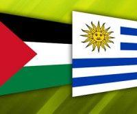 Banderas de Palestina y Uruguay