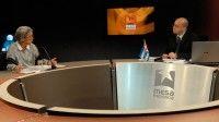 """María Elena Álvarez, experta en Oriente Medio, recordó los antecedentes de la actual situación, presentada al mundo como la necesidad de actuar """"en una Libia desestabilizada"""". Foto René García"""