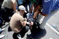 Brutal represión en Honduras cobra la vida de una maestra. Foto AFP