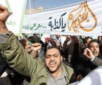 Protestas contra la injerencia en Libia