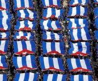 Cierre del desfile militar