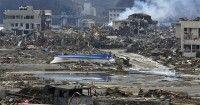 Devastación causada por el seísmo en Minamisanriku. Foto AFP