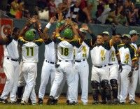 El equipo de Pinar del Río venció 5-4 a los Tigres de Ciego de Ávila y se colocaron a un paso de ganar el título del campeonato cubano de béisbol,en el estadio Capitan San Luis, el 28 de abril de 2011. AIN FOTO /Marcelino VAZQUEZ HERNANDEZ