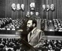 Fidel en el 1er Congreso del PCC