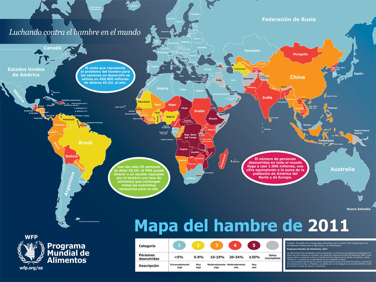 Mapa Del Hambre 2017.La Onu Presenta El Mapa Mundial Del Hambre Mesa Redonda