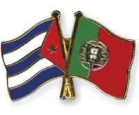 banderas Cuba y Portugal