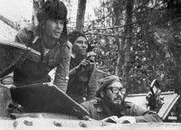 Fidel Castro, entonces Primer ministro dirigiendo las operaciones militares que derrotaron a los mercecenarios.
