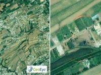 Imágenes cedidas por la empresa GeoEye muestran la edificación amurallada en Abbottabad, donde supuestamente fue emboscado por tropas norteamericanas el líder de Al Qaeda