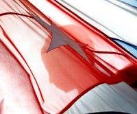 Bandera cubana con Marti. Foto Kaloian Santos