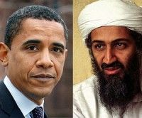 Barack Obama y Osama Bin Laden