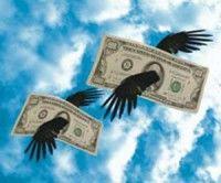 Dólares volando
