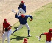 Entrenamiento de los equipos de beisbol cubano