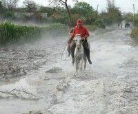 Granizo en la provincia cubana de Holguín