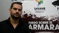 David Segarra, realizador del documental, corresponsal de Telesur y sobreviviente de la tragedia. Foto TeleSUR