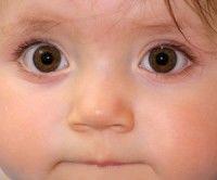 Niño pequeño con grandes ojos