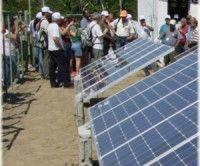 Paneles solares instalados en Cuba