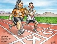 Perú, caricatura sobre triunfo de Ollanta. Caricatura de Carlín, en La República (Lima), 5 de Junio de 2011