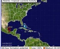 Tormenta tropical Arlene. Foto Centro Nacional de Huracanes