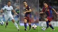 Cristiano, Xavi y Messi