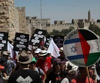 Arabes y judios marchan a favor de Palestina