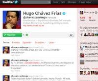 Cuenta de Chavez en Twitter