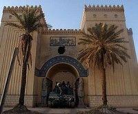 Entrada al museo iraquí de Bagdad