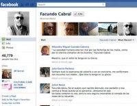 Página de facebook convocando una concentración para condenar el asesinato de Facundo Cabral