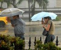 Lluvias en el occidente cubano