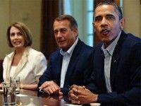 Obama durante la reunión. Foto AFP