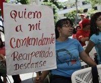 Pueblo venezolona apoya a Chavez