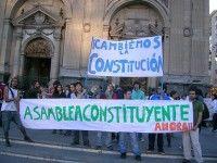 Tercera manisfestación de protestas de los estudiantes chilenos
