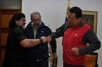 Reunión entre Chávez, Fidel y Maradona