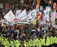 Protestas en Gran Bretaña