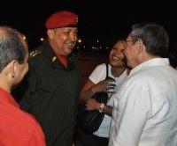 Chavéz llega a la Habana el 6 de agosto de 2011. Foto Estudios Revolución