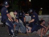 Represión contra indignados en Málaga
