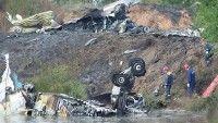 En el lugar del siniestro del avión Yak-42 en la provincia de Yaroslavl. Foto: Ria Novosti