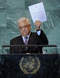 ABBAS durante el discurso en la ONU. Foto: AFP