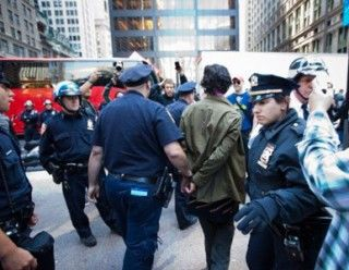 Arrestos en Wall Street. Foto: RT
