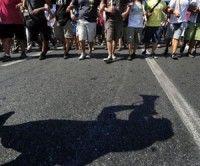 Estudiantes chilenos en marcha de prostestas. Foto: AFP