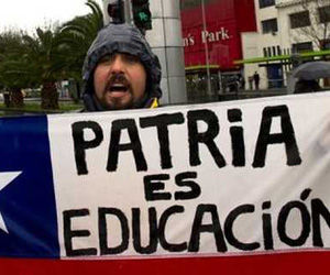 Protesta estudiantes chilenos